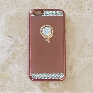 NEW 6/6+ Rose Gold Bejeweled iPhone Case